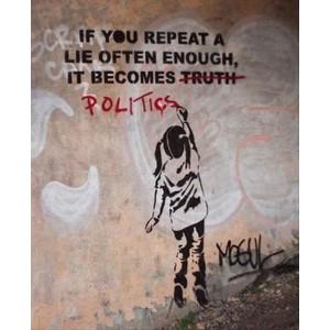 """Résultat de recherche d'images pour """"if you repeat a lie often enough it becomes the truth"""""""