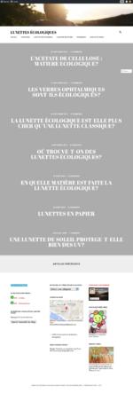 page du blog lunettes écologiques