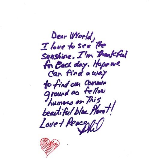 Une lettre d'amour de 490 mètres
