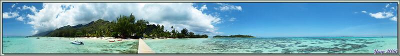 Vue panoramique à partir du ponton des Tipaniers : midi - Moorea - Polynésie française