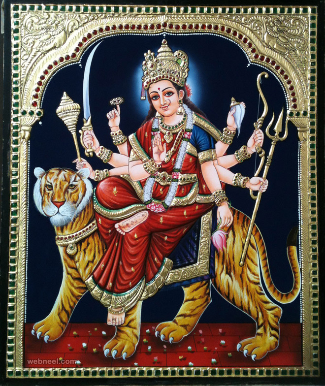 kali tanjore paintings