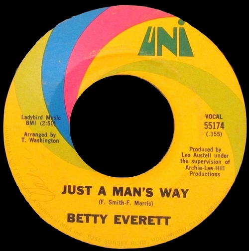 "Betty Everett : Album "" There'll Come A Time "" UNI Records LP 73048 [ US ]"