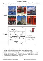 Ecrire une carte postale (ce1)