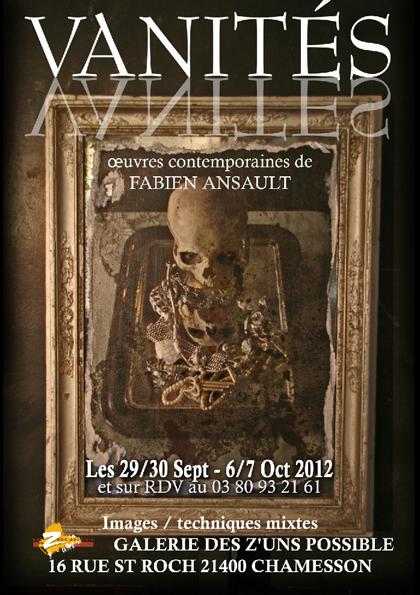 """""""Vanités"""" , une exposition de Fabien Ansault..."""