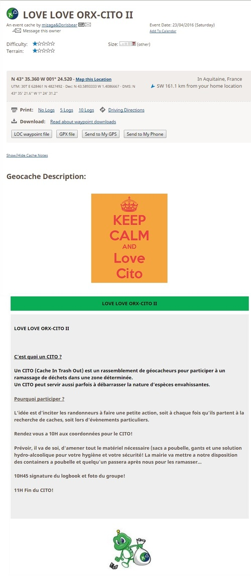 23 Avril 2016 - LOVE LOVE ORX-CITO II