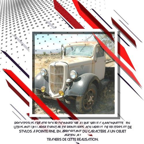 Dessin et peinture - vidéo 3485 : Comment peindre ou dessiner un véhicule vintage ? - encre, aquarelle ou autre médium.