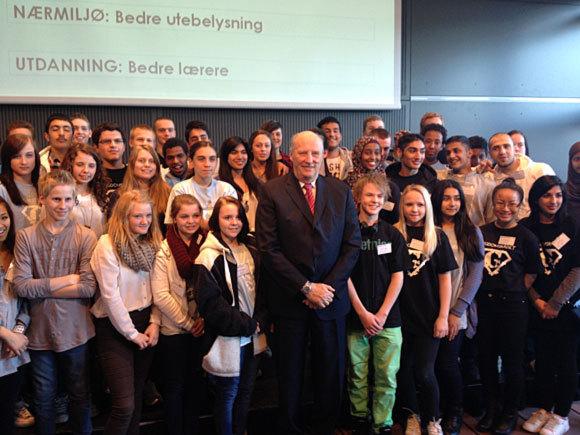 Harald et les jeunes