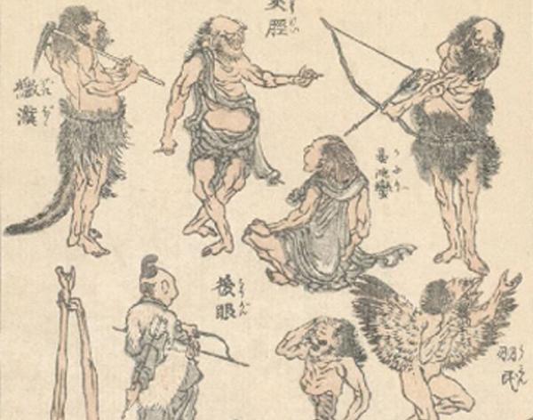 Manga, Katsushikai Hokusai, entre 1814 et 1878.