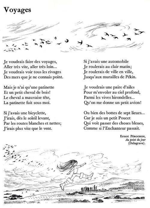 Voyages (poésie d'Ernest Pérochon)