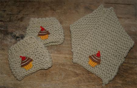Petite écharpe et minis guêtres
