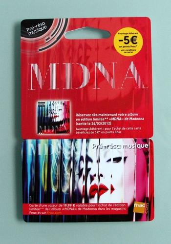 MDNA - pre-resa Fnac card