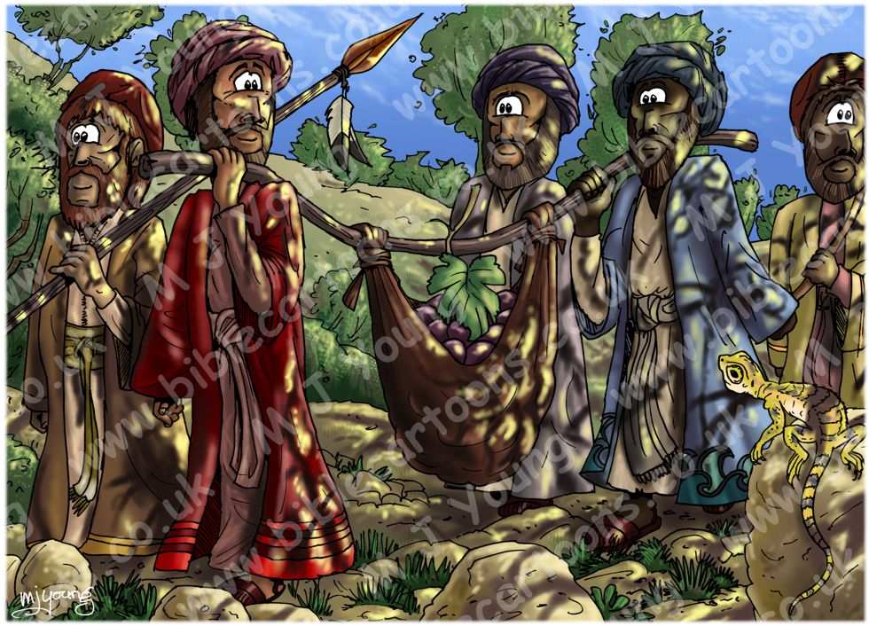 Deuteronomy 1 - Scene 05 - Spies in Eshcol (dappled lighting)