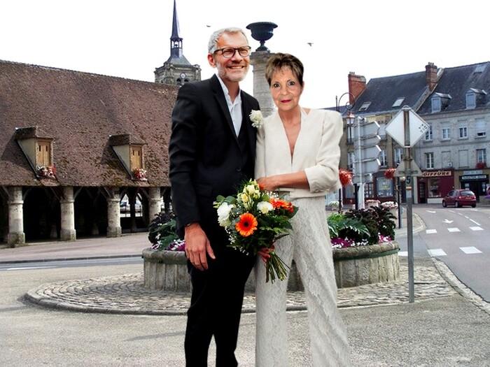 Photo des faux mariés