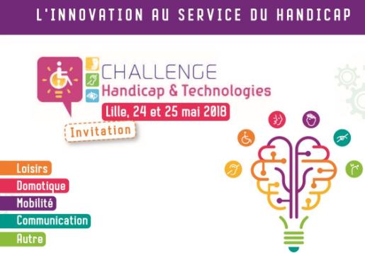 Challenge Handicap & Technologie : Lille 24 et 25 mai (J - 6)