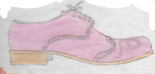 dessin chaussures, derbies