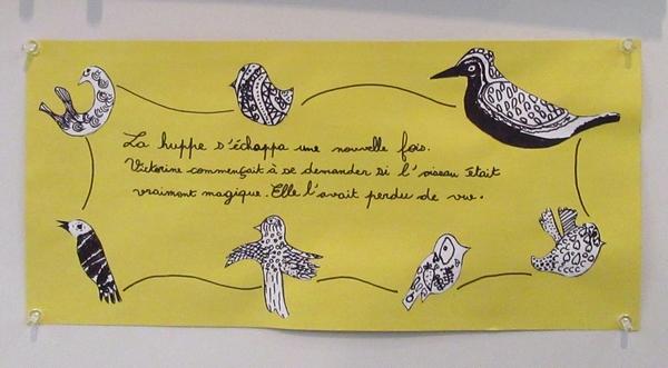 Les écoliers de Laignes ont réalisé une superbe bande dessinée sur Victorine de la Huppe, exposée au Musée du pays Châtillonnais-Trésor de Vix