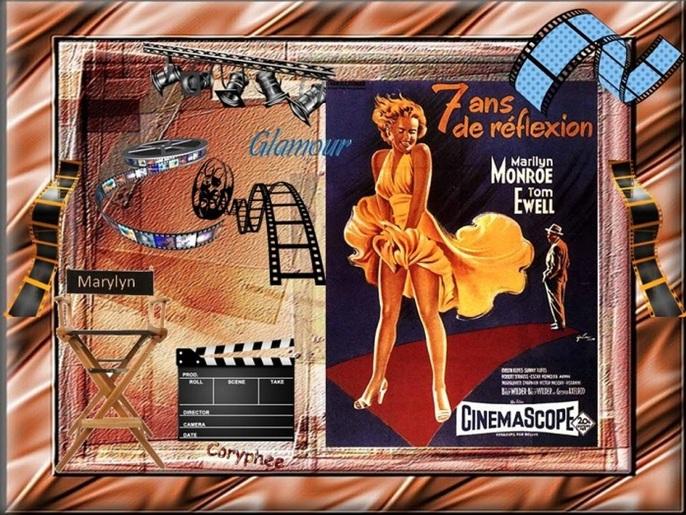 Défi 26 :Le.. Cinéma* Bravooo et merci ma Cory Même sans cadre ta créa est sublime**!!
