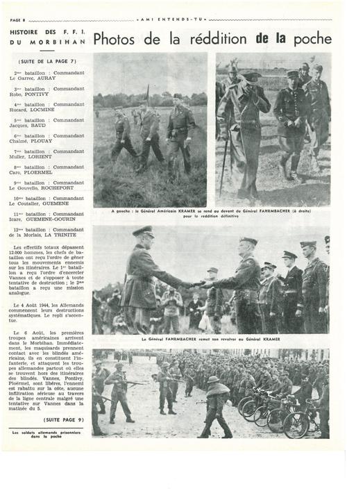 Histoire des FFI dans le Morbihan