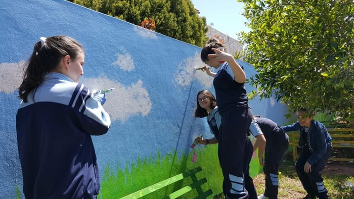 Les murs de l'école prennent vie...