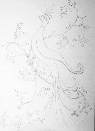 L'oiseau, enluminure persane