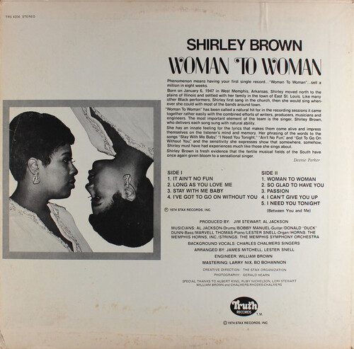"Shirley Brown : Album "" Woman To Woman "" Truth Records TRS-4206 [ US ]"