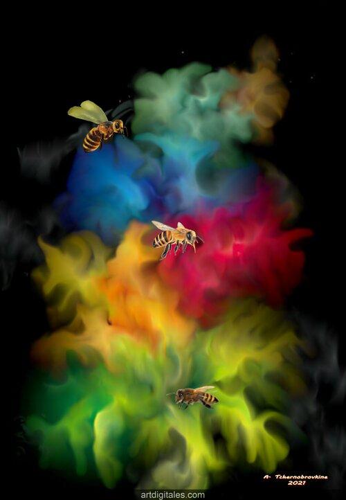 Le butinage des abeilles