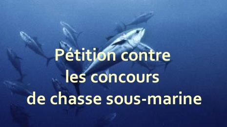 pétition contre concours de chasse sous-marine