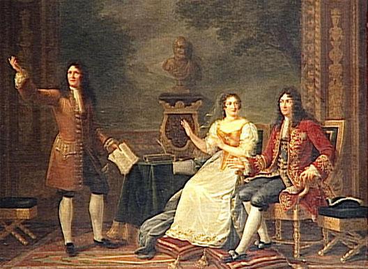 Racine lisant Athalie devant Louis XIV et madame de Maintenon (détail), 1819, Julie Philipaut, musée du Louvre