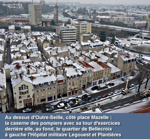 Vue aérienne de Metz janvier 4 09 01 2010