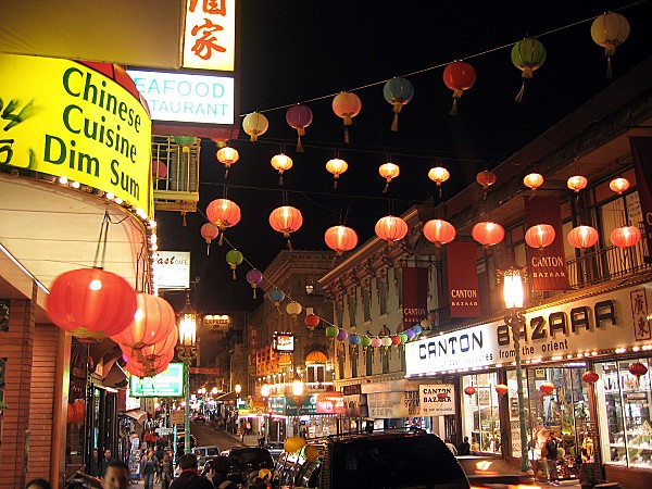San Francisco Chinatown nuit