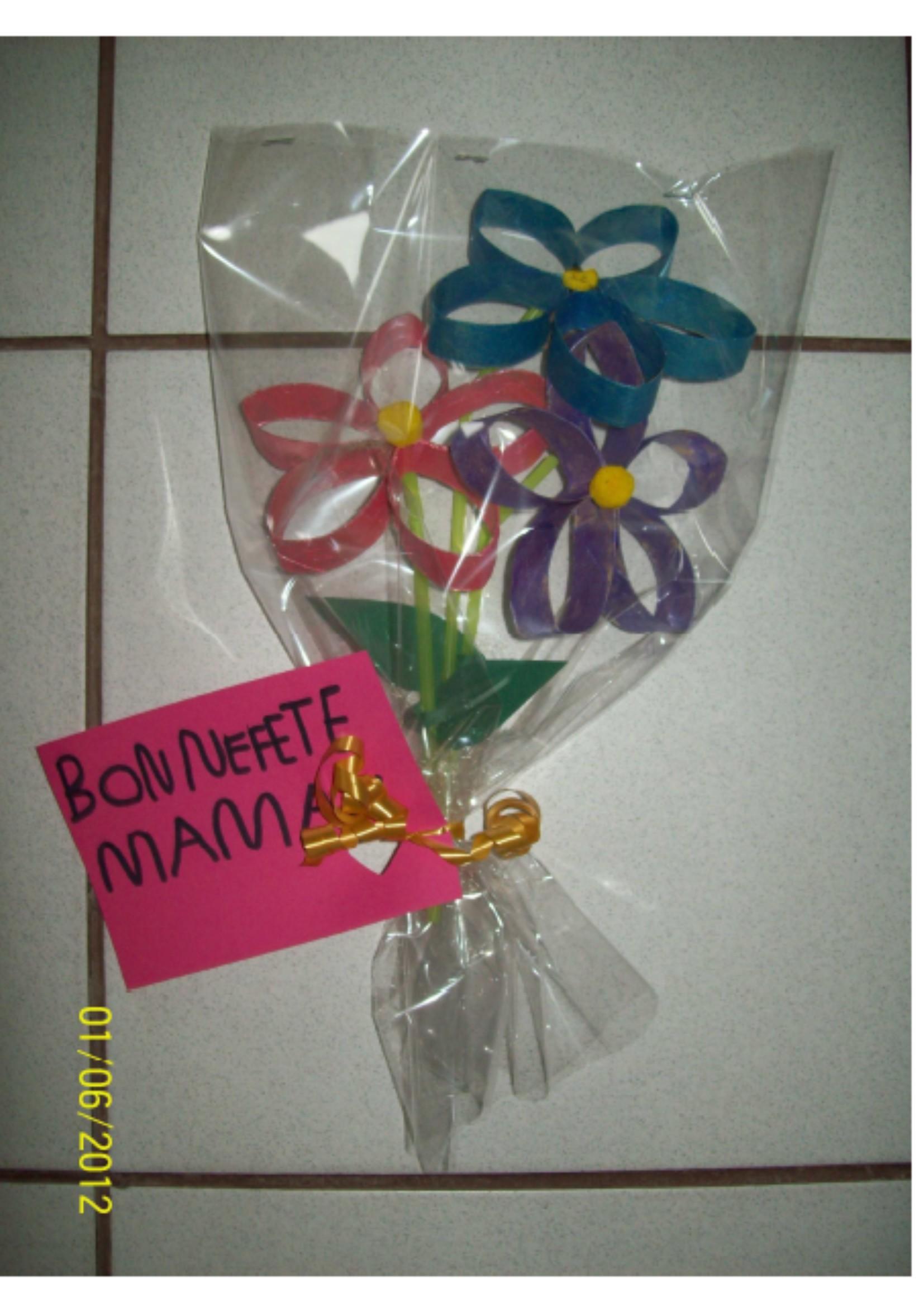 bouquet de fleurs recup 39 ps ms gs fete des meres 2012 la classe de wjl. Black Bedroom Furniture Sets. Home Design Ideas