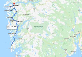 boucle jusqu'en Norvège en Juillet