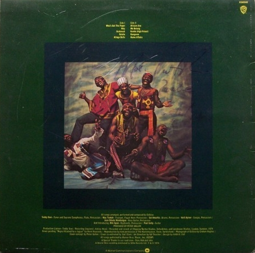 "1974 : Album "" Osibirock "" Warner Bros. Records K 56048 [ UK ]"