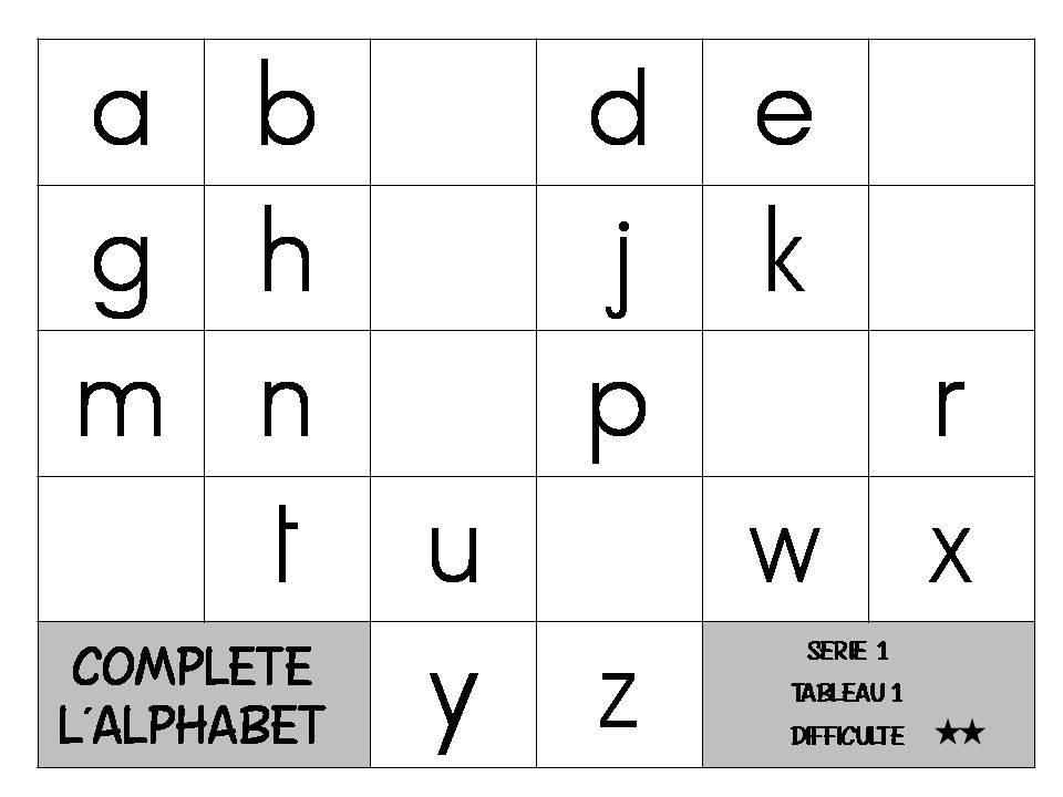 Lettres manquantes lamaterdeflo - Grande lettre alphabet a imprimer ...