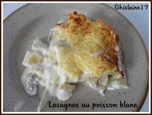 Lasagnes au poisson blanc