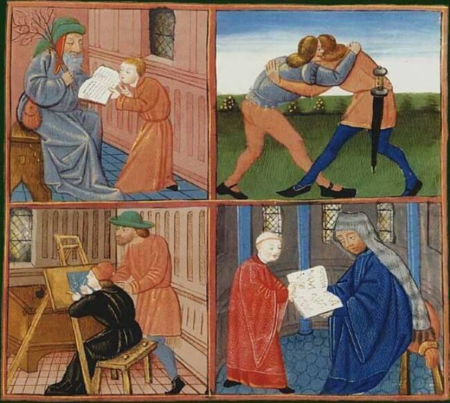 Maîtres et écoliers au Moyen Âge