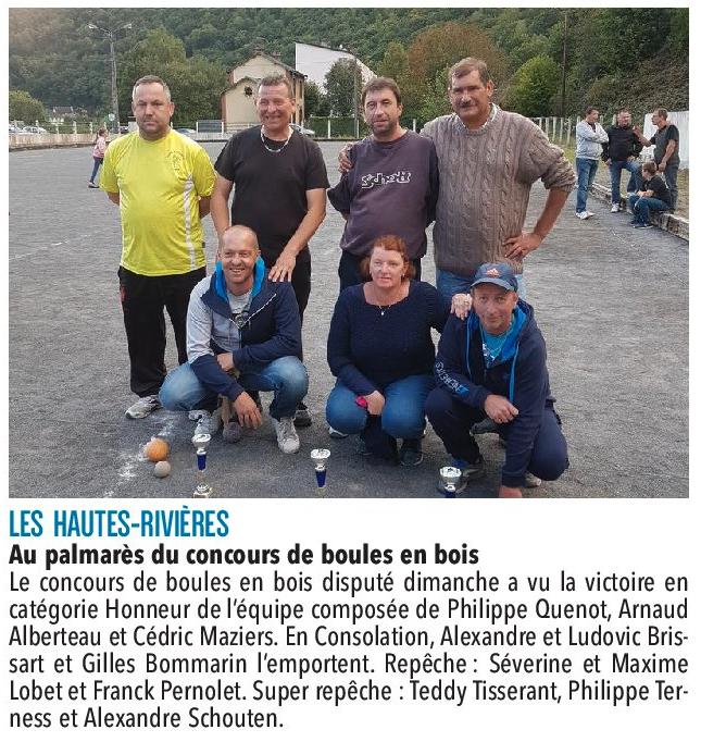 Les-Hautes-Rivières - Concours du 17 septembre
