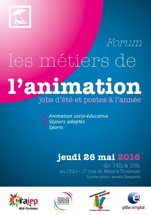 Job-dating special animation au CRIJ le 26 Mai