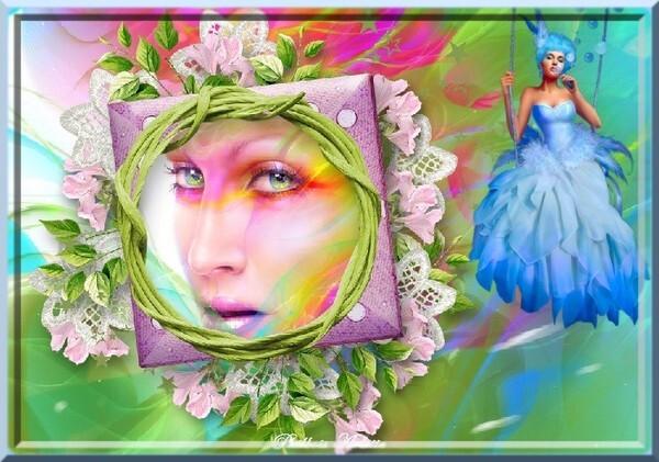 Mille couleurs dans un visage
