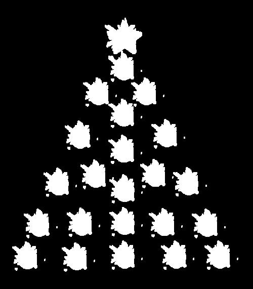 Tubes sapins de Noël