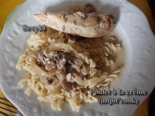 Poulet à la crème et à la moutarde (mijot'cook)