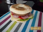 Muffin bagel burger