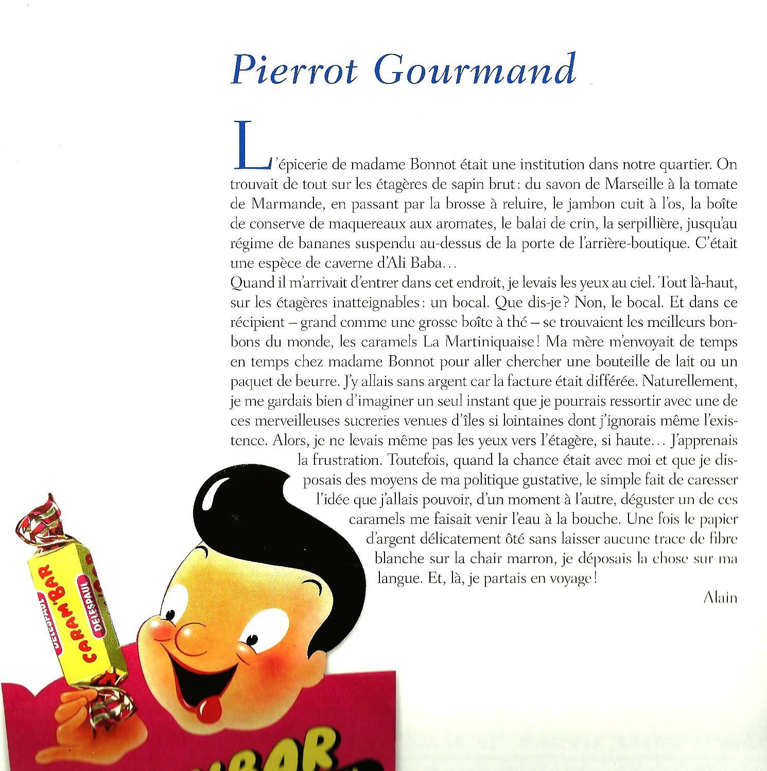 sucettes pierrot gourmand caramel