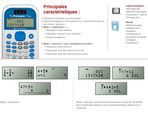 Echantillon calculatrice