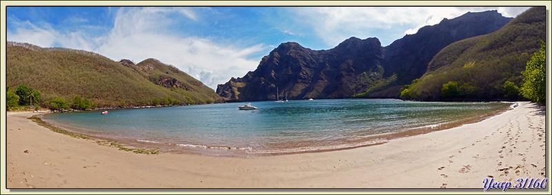Plage d'Hakatea - Baie de Hakaui - Nuku Hiva - Iles Marquises - Polynésie française