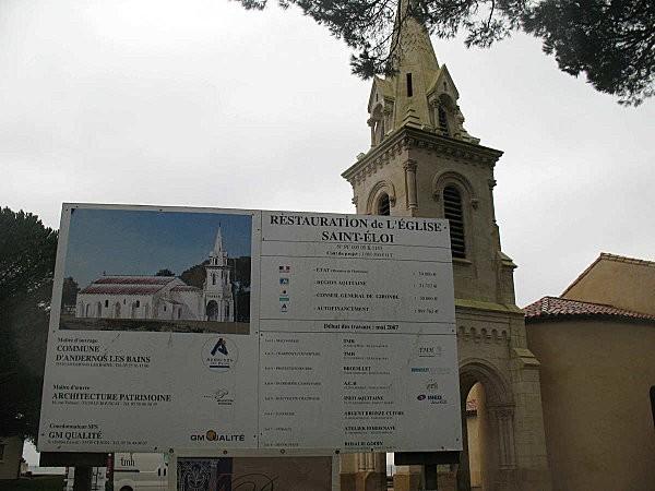 restauration de l'église st-éloi d'andernos