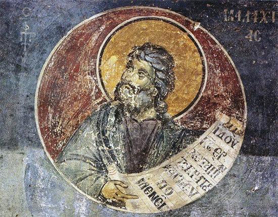 Fresque du prophète Malachie