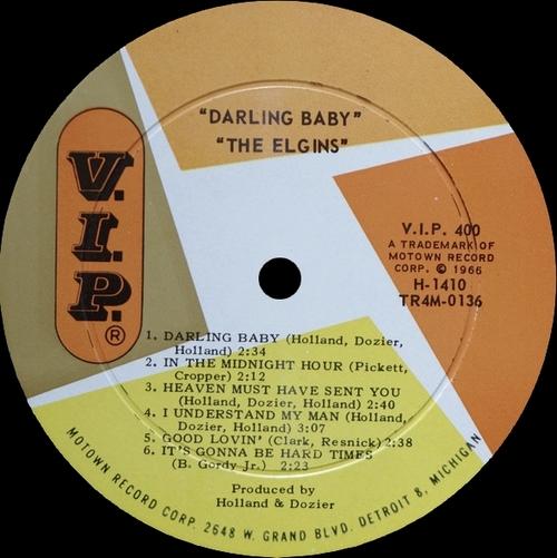 "The Elgins : Album "" Darling Baby "" V.I.P. Records V.I.P.S 400 [ US ]"