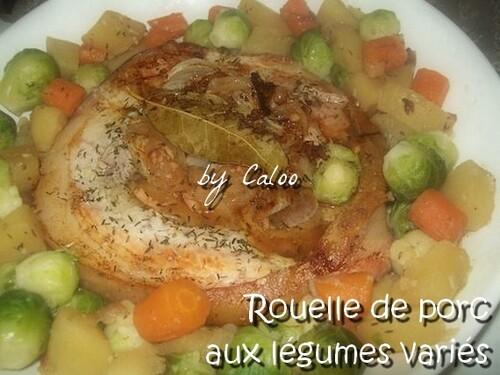 Rouelle de porc aux légumes variés