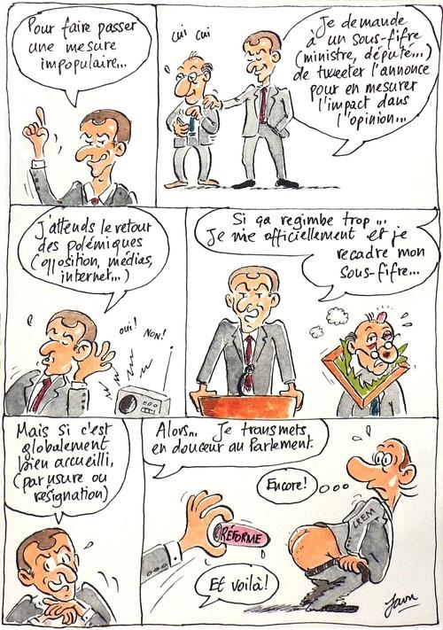 Trump par ci, Macron par là
